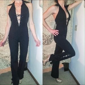 Bebe backless jumpsuit